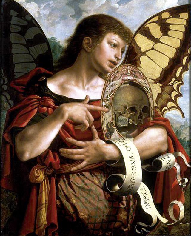 Jan van Hemessen: Vanitas, ca. 1535-1540. Musée des Beaux-Arts, Lille
