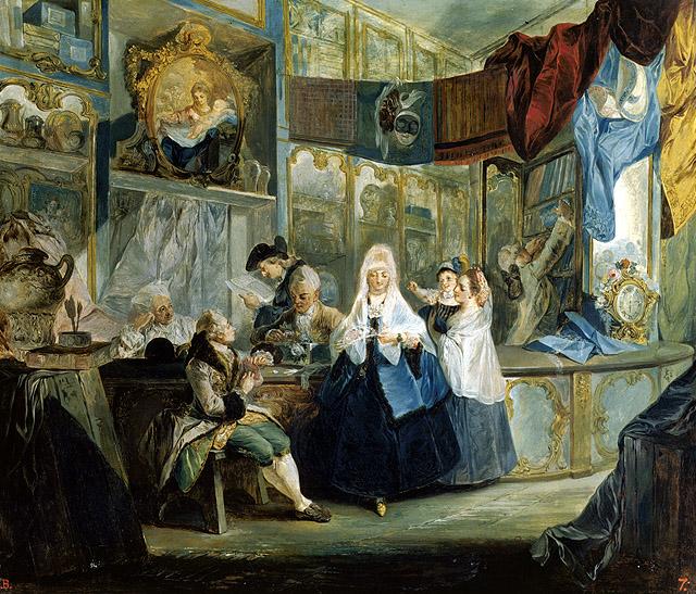 Luis Paret y Alcázar: La tienda del anticuario, 1772. Museo Lázaro Galdiano, Madrid