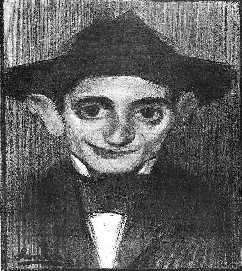 """SANCHA: Caricatura de Leal da Câmara, """"Madrid Cómico"""" (27-1-1900)"""