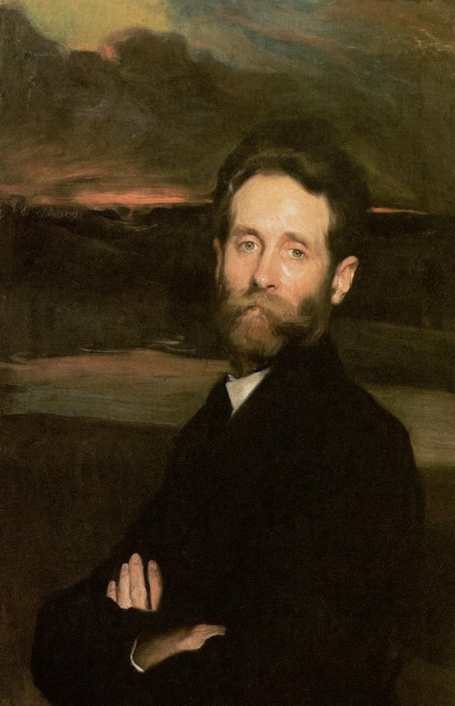 Fernando Álvarez de Sotomayor: Retrato del pintor Alfredo Helsby, 1908. Museo Nacional de Bellas Artes, Santiago de Chile.
