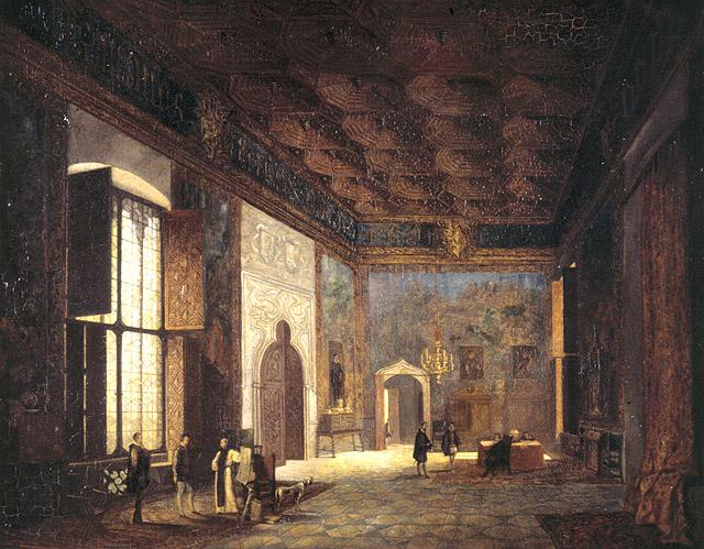 Vicente Poleró: Sala del palacio de Mosén Sorell. Museo de Bellas Artes, Valencia.