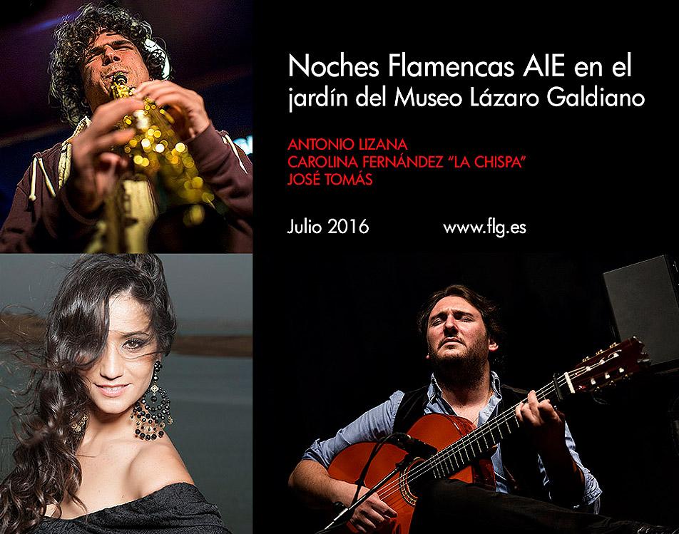 Noches flamencas AIE 2016 en el jardín del Museo Lázaro Galdiano de Madrid
