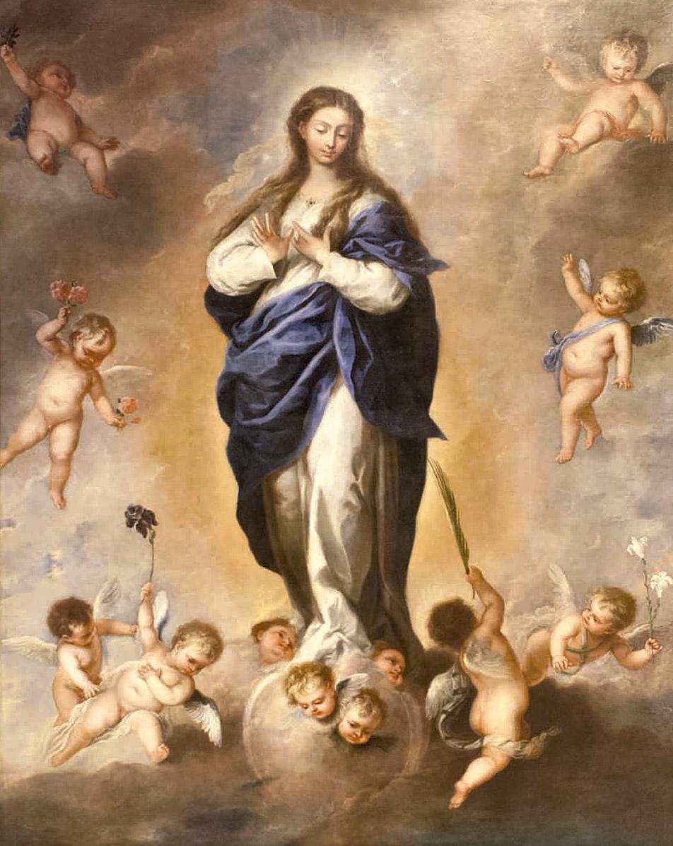 Alonso Cano: Inmaculada Concepción, ¿ca. 1665? Catedral de Notre-Dame, Luxemburgo. (Foto: Tom Brucher. Cortesía de la Fabrique d'Église Notre-Dame).