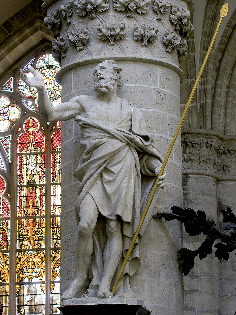 Jérôme Du Quesnoy el Mozo: Santo Tomás, 1643. Catedral de San Miguel y Santa Gúdula, Bruselas (© IRPA-KIK, Bruxelles).
