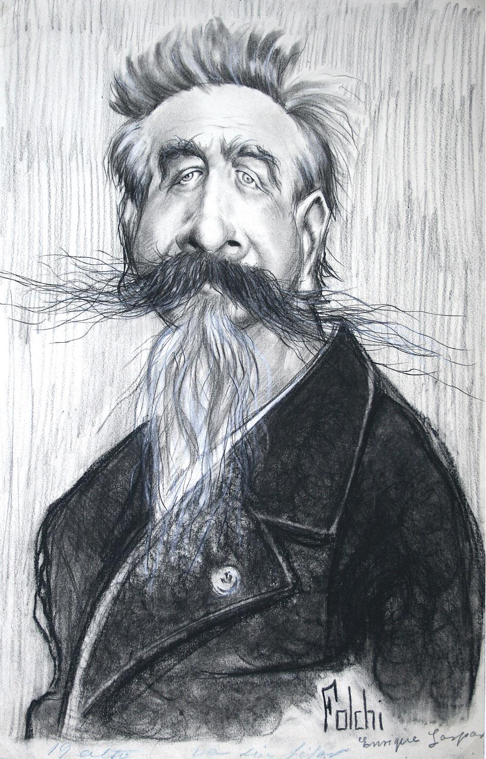 Caricatura de Enrique Gaspar y Rimbau por Folchi