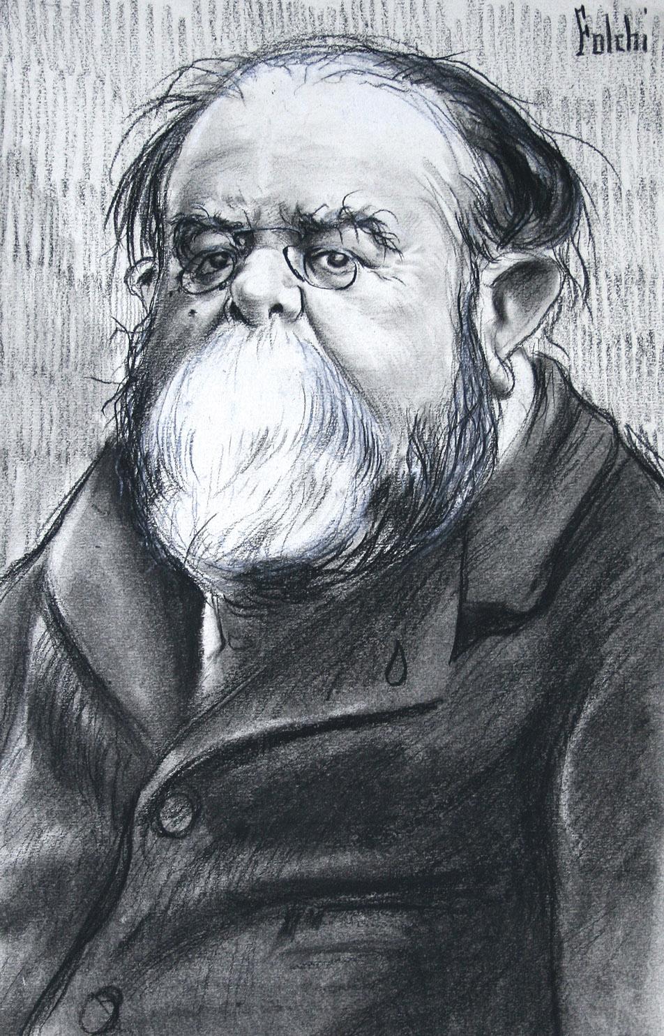 Caricatura de Teodoro Llorente Olivares por Folchi