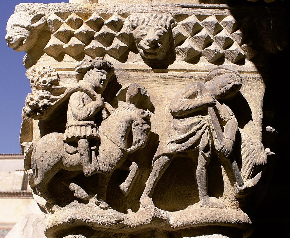 Capitel del claustro del Monasterio de Santa María la Real de Nieva (Segovia)