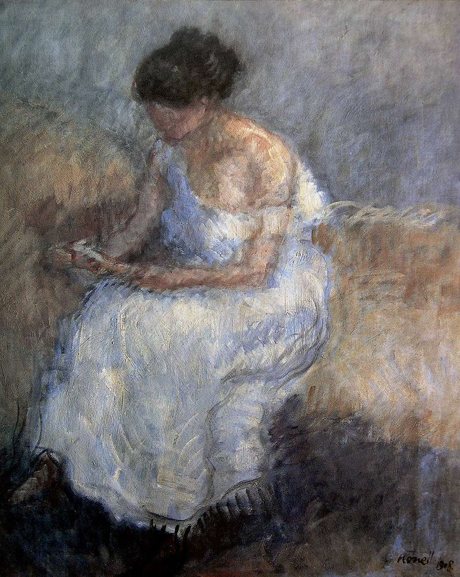 Isidre Nonell: Mujer leyendo, 1908. Colección particular.