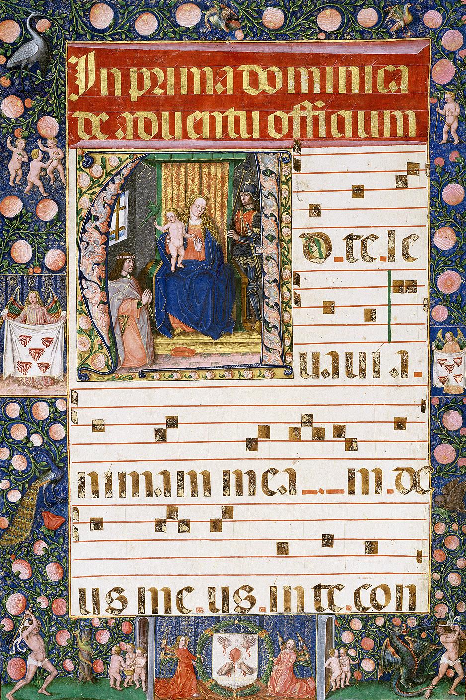 Pedro de Palma: Libro de coro, Ms. M887-1, s/f, 1512-1521. Pierpont Morgan Library, Nueva York.