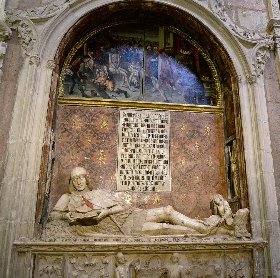 Sepulcro de Martín Vázquez de Arce, ca. 1486-1500. Capilla de san Juan y santa Catalina. Catedral de Sigüenza.
