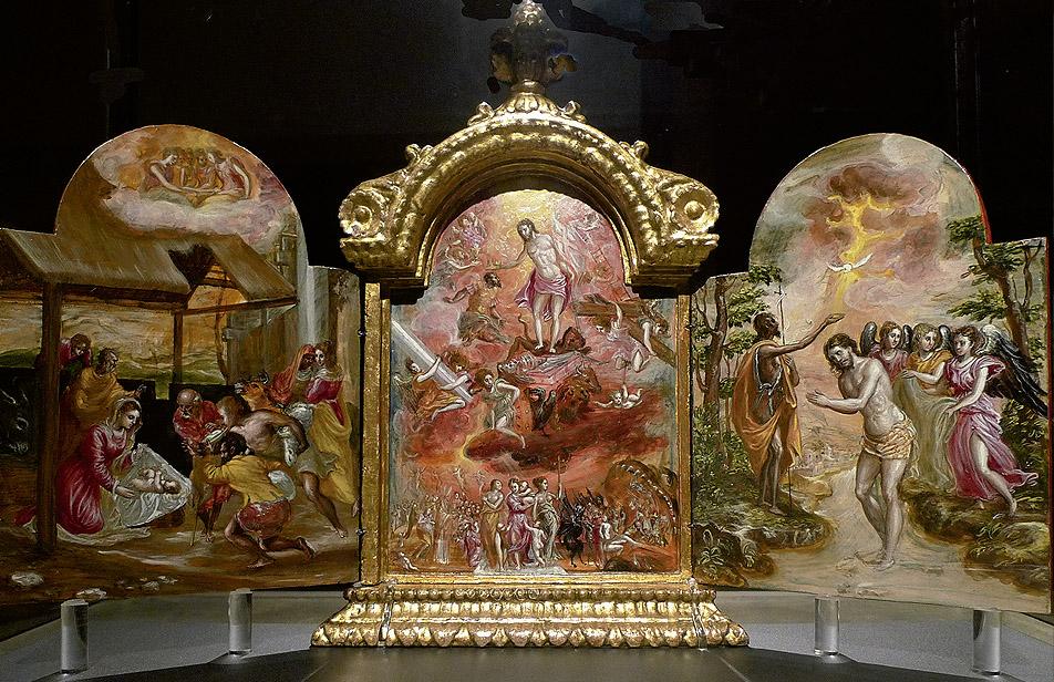 El Greco: Tríptico de Módena, ca. 1567-1569, anverso y reverso. Galleria Estense, Módena.