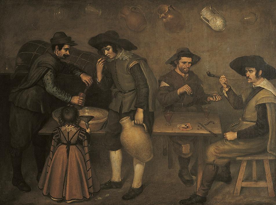 "Antonio de Puga: ""La taberna"", 1625-1648. Museo Provincial, Pontevedra."