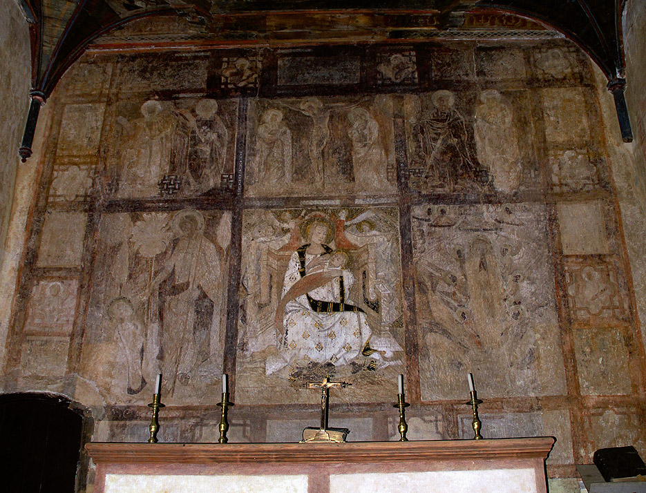 Presbiterio de la Capilla de la Magdalena, Granja de Mirabel.