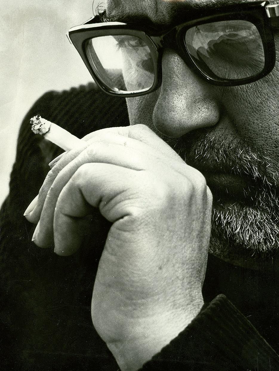 Retrato de José María Moreno Galván por Gigi Corbeta, 1967. Archivo fotográfico de la familia José María Moreno Galván.