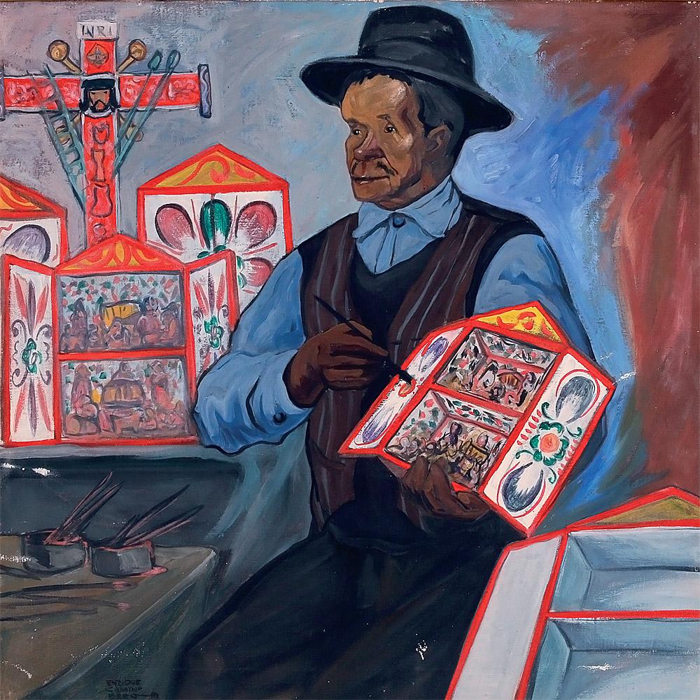 """Enrique Camino Brent: """"Retrato de Joaquín López Antay"""", 1959. Museo de Arte de Lima. Comité de Formación de Colecciones 2017 y Comité de Adquisiciones de Arte Contemporáneo 2017. (Foto: Daniel Giannoni)."""