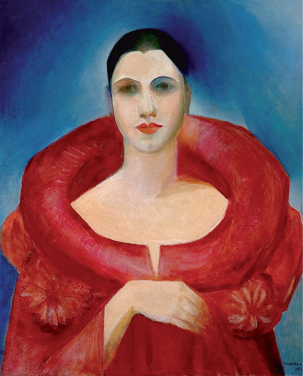 "Tarsila do Amaral: ""Autorretrato (Le manteau rouge)"", 1923. Museo de Bellas Artes de Río de Janeiro, Brasil."