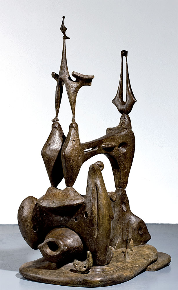 """Alberto Sánchez: """"Monumento a los pájaros"""", 1957-1958. Reproducción y reconstrucción en bronce de Eduardo Capa, ca. 2010. (Foto: cortesía del Centro de Arte Dos de Mayo). © Alberto Sánchez, VEGAP, Málaga, 2019."""