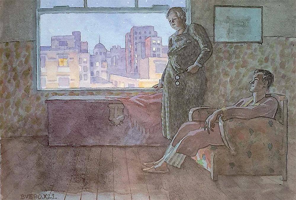 """Antonio Buero Vallejo: """"Maternidad burguesa"""", 1941. Colección privada."""