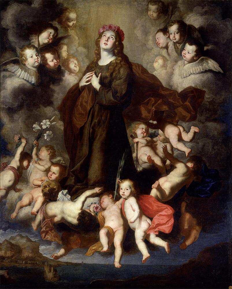 """Pietro Novelli: """"Santa Rosalía en gloria"""", 1637-1642. ©Museo de la Real Academia de Bellas Artes de San Fernando, Madrid."""
