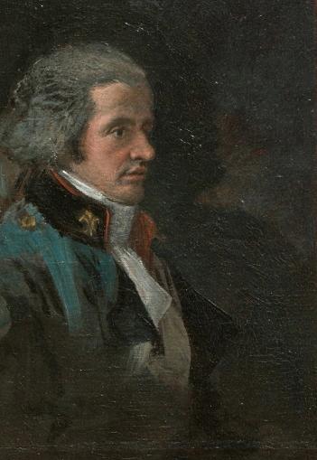 """Francisco de Goya: """"La XII marquesa de Villafranca pintando a su marido, detalle"""". Museo del Prado"""