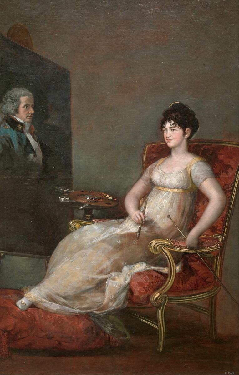 """Francisco de Goya: """"María Tomasa Palafox Portocarrero, XII marquesa de Villafranca, pintando a su marido"""", 1804. Museo Nacional del Prado."""