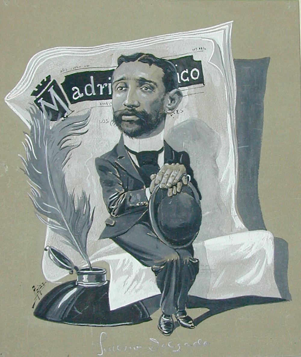 """Pedro de Rojas: """"Sinesio Delgado"""" (1899). Gouache sobre cartulina, 327 x 287 mm. Inv: 8855"""