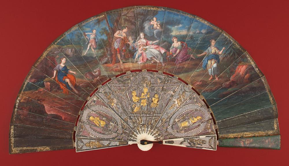 """Abanico """"Baco y Ariadna"""", escuela francesa (1765[ca]-1775[ca]). Museo Lázaro Galdiano nº inv. 4331"""
