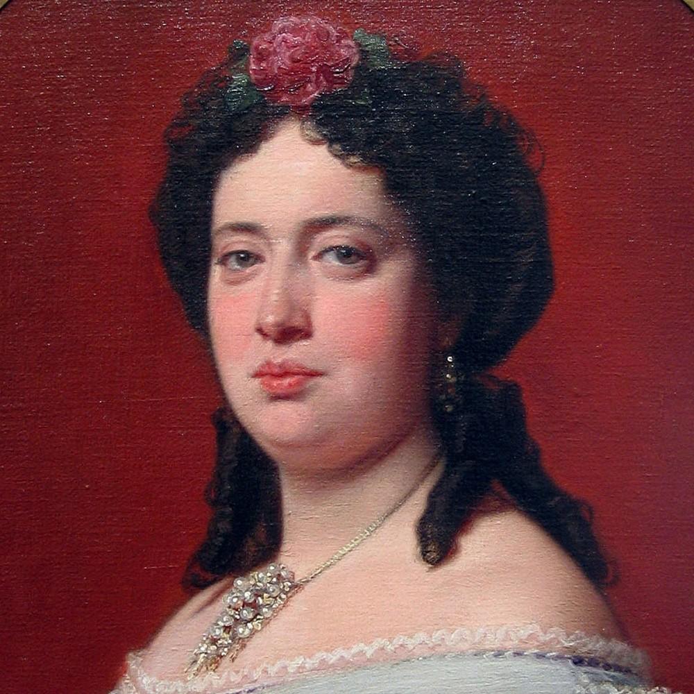 """FEDERICO DE MADRAZO: """"Retrato de Concepción Paz y Tamarit (detalle)"""" (1863). Museo Lázaro Galdiano"""