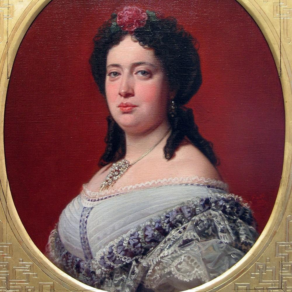 """FEDERICO DE MADRAZO: """"Retrato de Concepción Paz y Tamarit"""" (1863). Museo Lázaro Galdiano"""