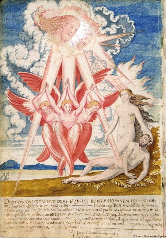"Francisco de Holanda: ""De Aetatibus Mundi Imagines"", fol. 8v. Biblioteca Nacional de España, Madrid."