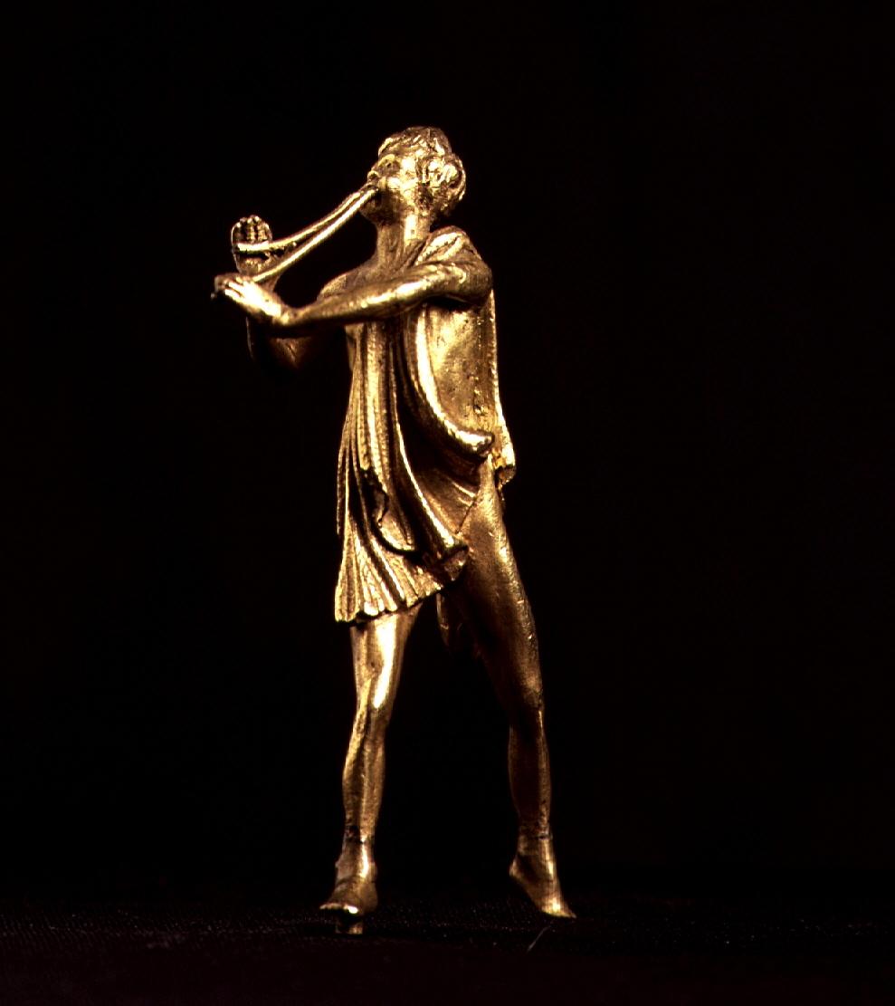 """""""Flautista heleno"""" del Museo Lázaro Galdiano. Nº de inventario 2074"""