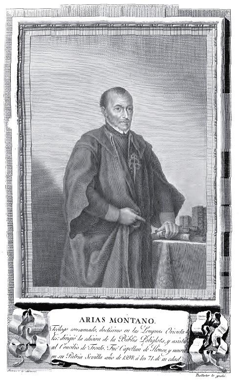 """""""Benito Arias Montano"""", grabado de Joaquín Ballester sobre dibujo de Agustín Esteve, 1791. Museo Lázaro Galdiano."""