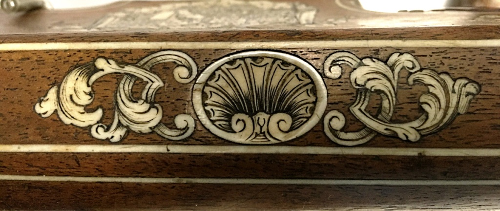 Detalle decorativo de la ballesta del duque Karl Friedrich Holsteins-Gottorp
