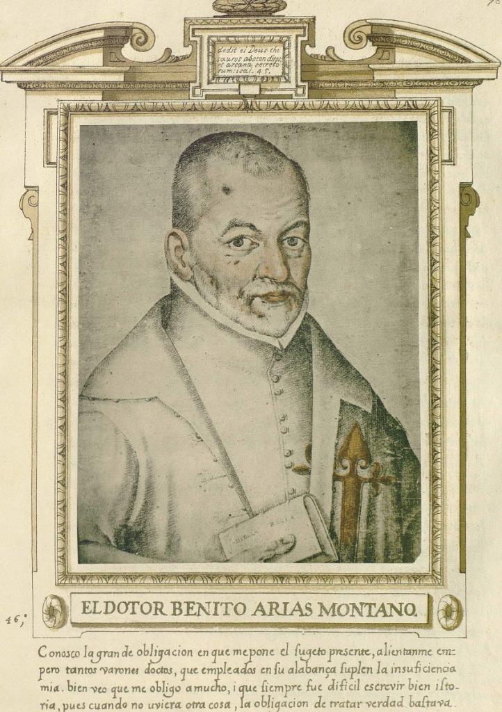 "Francisco Pacheco: ""Benito Arias Montano"", 1593. Libro de Retratos. Biblioteca Lázaro Galdiano"