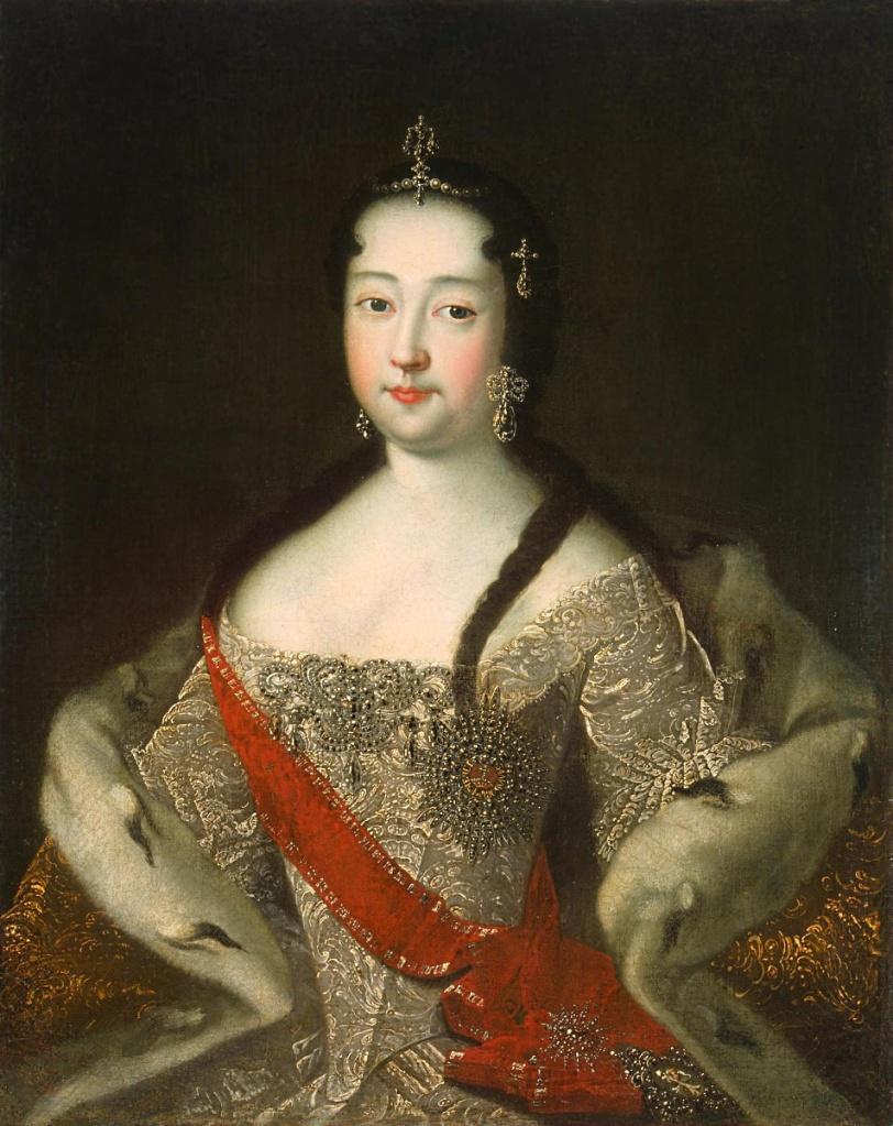 """Ivan Adolsky (?). """"Retrato de Anna Petrovna"""". Después de 1721. Museo del Hermitage."""