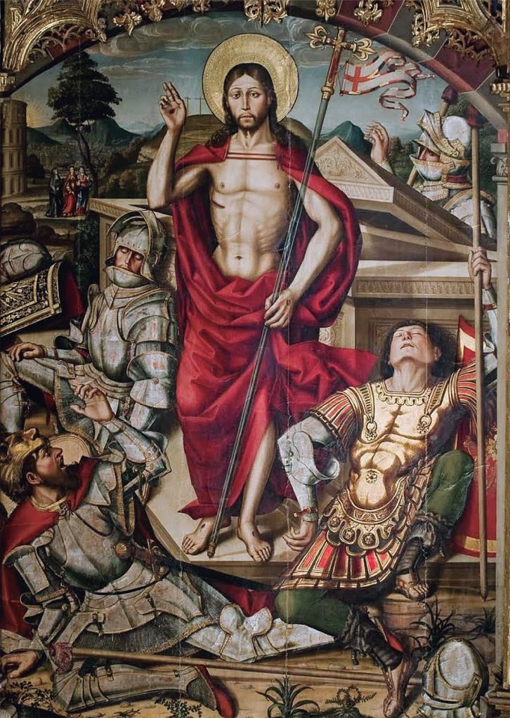"""Bartolomé de Santa Cruz: """"Resurrección"""", 1507-1508. Retablo mayor de la Catedral, Ávila."""