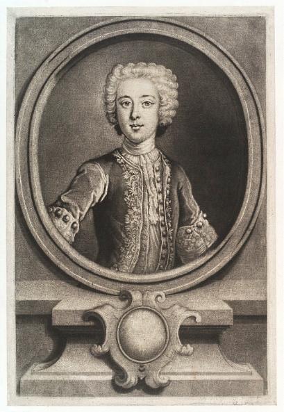 Estampa de John Simon, realizada en 1732