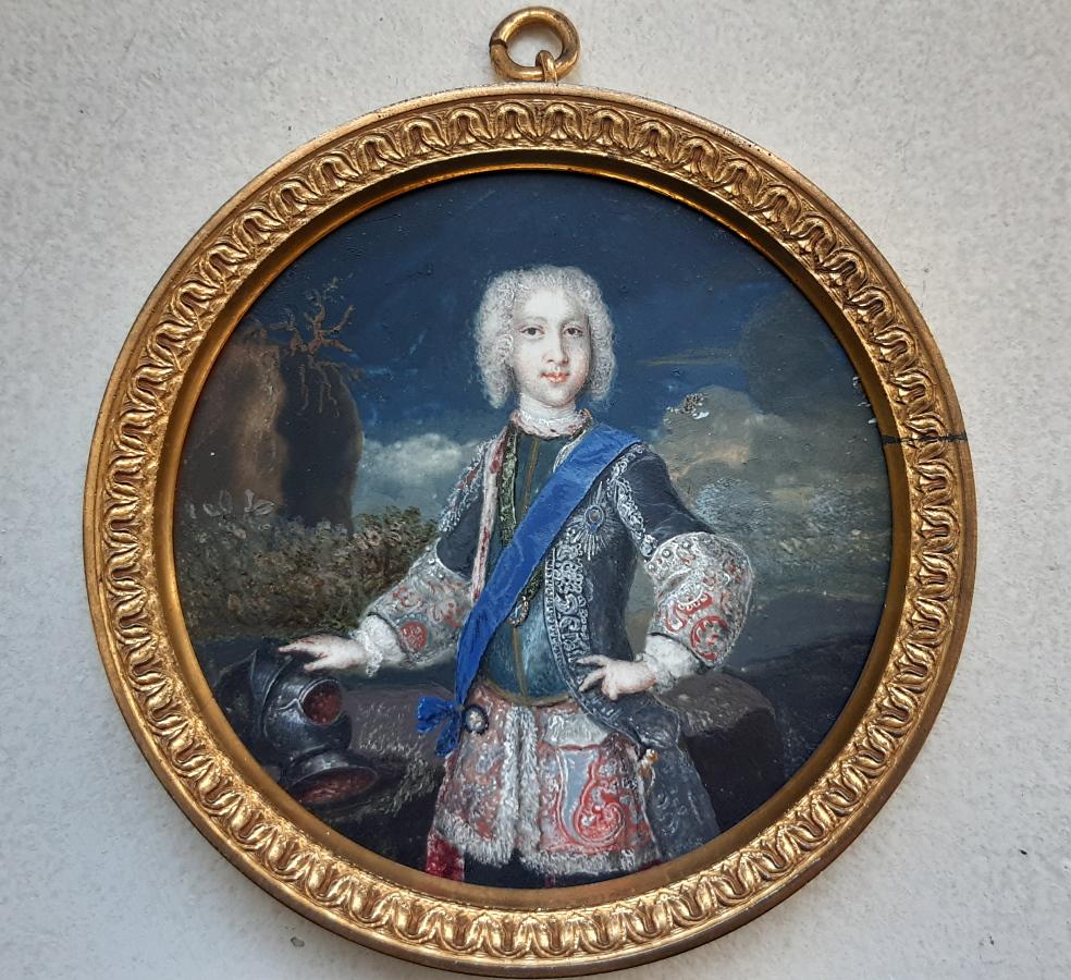 Retrato del príncipe Carlos Eduardo Estuardo. Miniatura del Museo Lázaro Galdiano