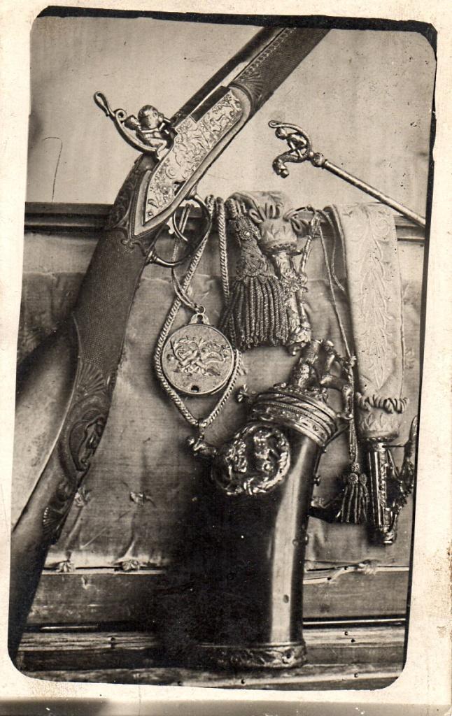 """Fig. 7. Miguel de Fábregas y Solá. """"Escopeta de caza (detalle)"""". Positivo en cartulina, 1907-1916. Archivo familiar Fábregas, Barcelona"""