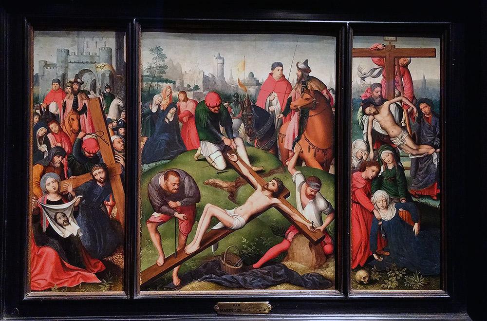 """MARCELUS COFFERMANS: """"Tríptico del enclavamiento de Cristo"""". Museo Lázaro Galdiano"""