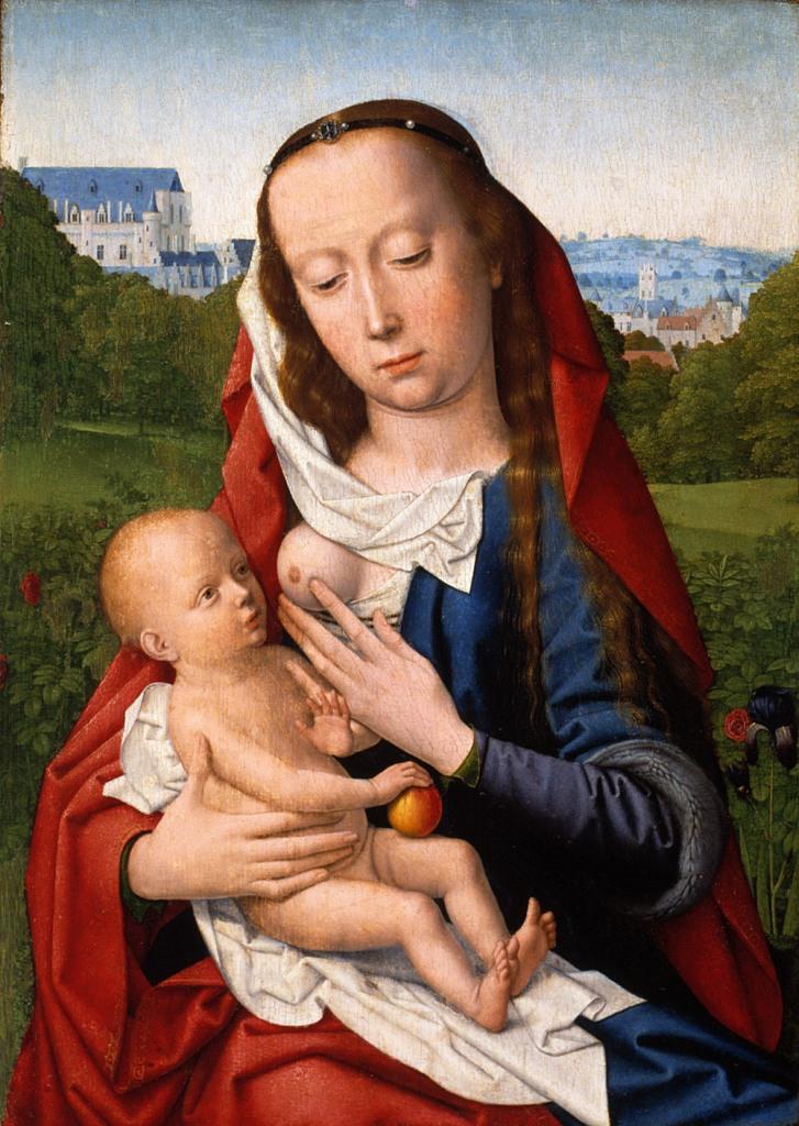 """GERARD DAVID: """"Virgen con el niño"""". Museo Lázaro Galdiano"""