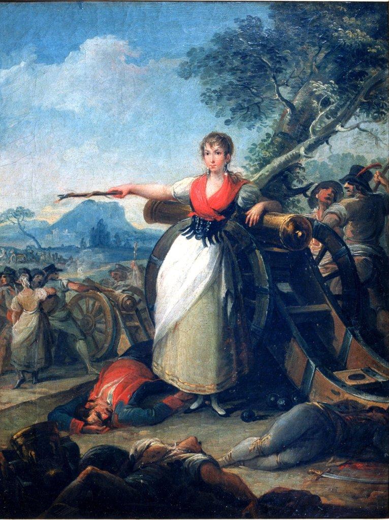 Juan Gálvez. Agustina de Aragón (Agustina Zaragoza y Doménech), hacia 1810. Óleo sobre lienzo. Inv. 2325
