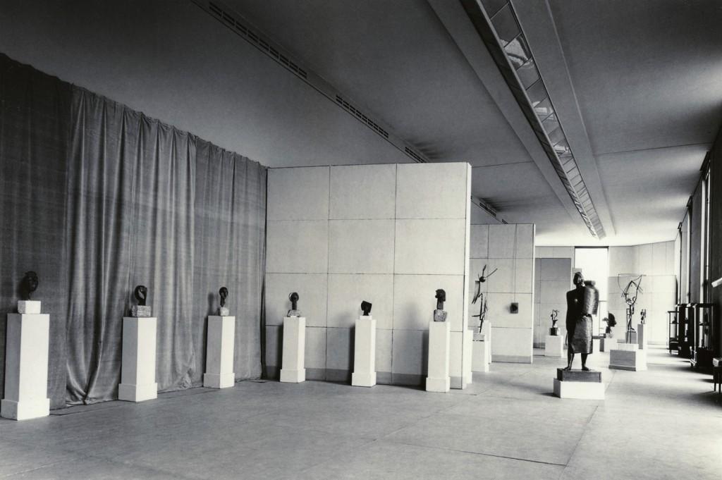 Exposición Julio González. Sculptures, 1952, Museo Nacional de Arte Moderno de París. Archivo Julio González IVAM, Valencia.