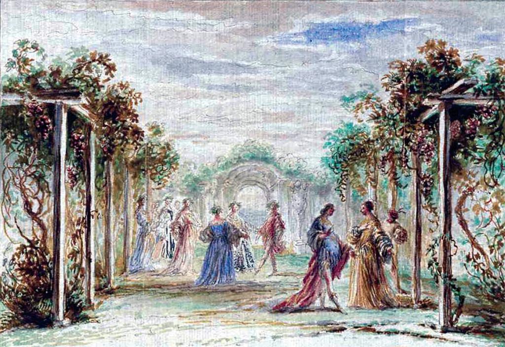 Francisco de Herrera el Mozo: Los celos hacen estrellas, segunda escena. © Österreichische Nationalbibliothek, Viena.