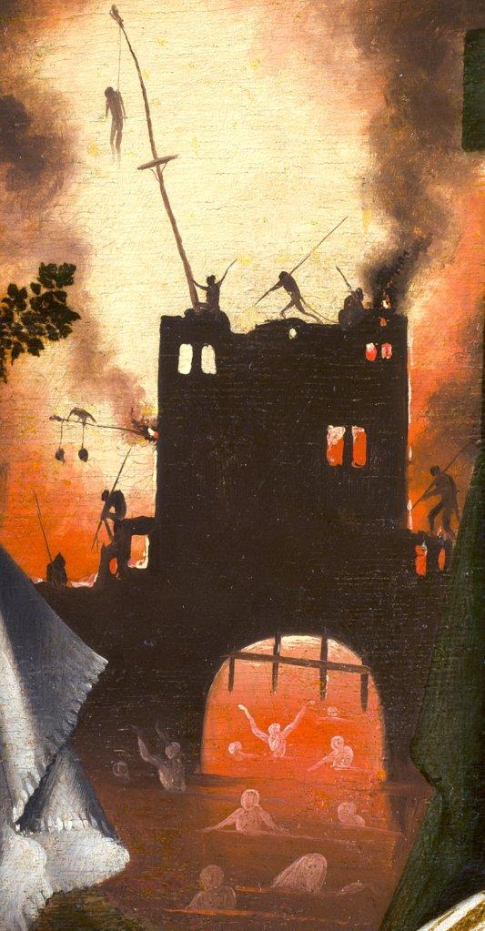 """Detalle de """"La visión de Tondal"""". El infierno"""