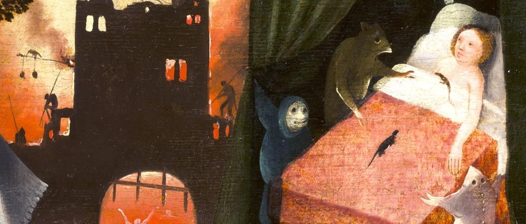 """Detalle de """"La visión de Tondal"""". Representación de la pereza y el infierno"""