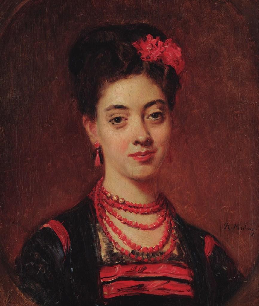 Raimundo de Madrazo: La hija del músico Gaztambide, ca. 1867-1868. Museo Lázaro Galdiano, Madrid.