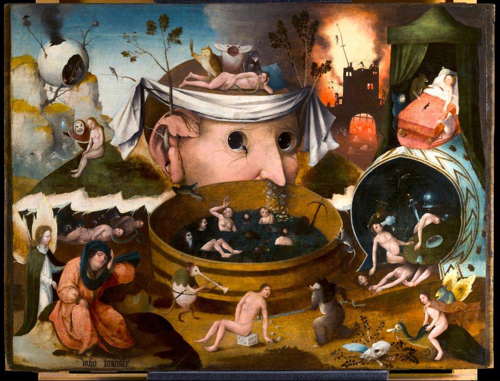 """TALLER DEL BOSCO: """"La visión de Tondal"""". Imagen tras la restauración. Museo Lázaro Galdiano"""