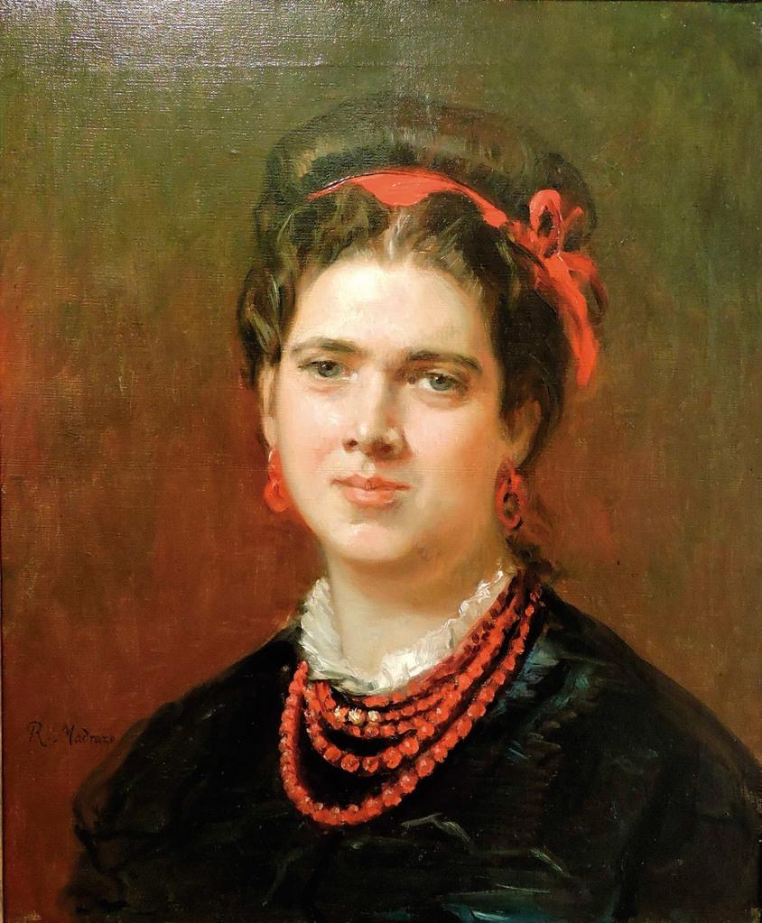 Raimundo de Madrazo: Retrato de María Allende, ca. 1867-68. Fundación Rodríguez-Acosta, Granada.