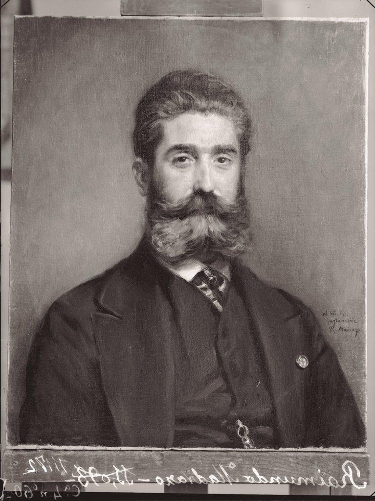 Retrato del músico Joaquín Gaztambide. Fotografía de José Lacoste en el Archivo Ruiz Vernacci. IPCE, Madrid.